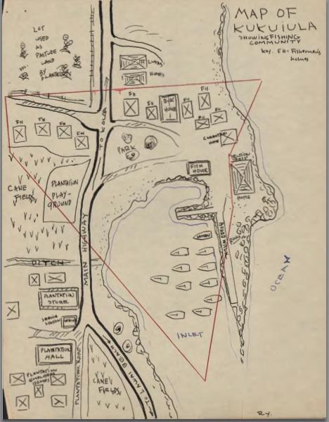 Kukui'ula 1939 map