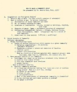 how to make a community study 1945_0001